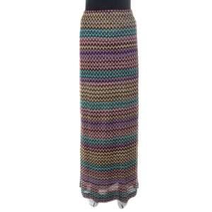 Missoni Multicolor Geometric Pattered Knit Maxi Skirt S
