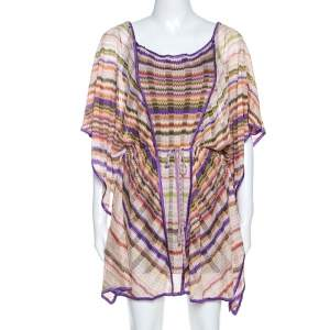 Missoni Mare Multicolor Chevron Patterned Knit Kaftan Tunic M