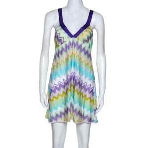 Missoni Mare Multicolor Chevron Knit Cover Up Mini Dress S