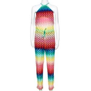 Missoni Mare Multicolor Knit Halter Cover-Up Jumpsuit S