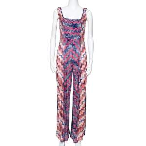 Missoni Mare Lurex Knit Frayed Edge Detail Cover-Up Jumpsuit M