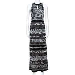 Missoni Monochrome Lurex Knit Sleeveless Maxi Dress S
