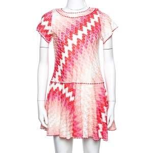 Missoni Pink Patterned Knit Skater Dress L