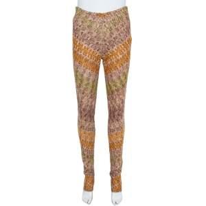 Missoni Multicolor Crocheted Knit Straight Leg Trousers S