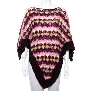 Missoni Purple Mohair Poncho (One Size)