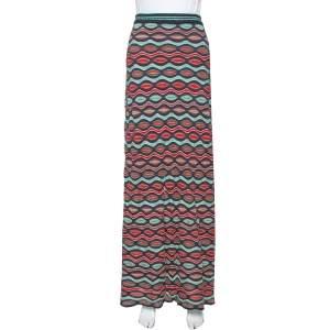 تنورة إم ميزوني ماكسي تريكو مموج متعدد الألوان  مقاس وسط (ميديوم)
