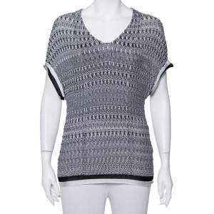 Missoni Monochrome Knit Top L
