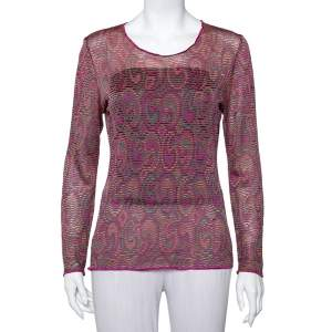 Missoni Multicolor Knit Long Sleeve Top M