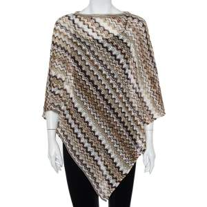 Missoni Brown Open Knit Poncho (One Size)
