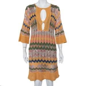 M Missoni Multicolor Patterned Knit Shift Dress S