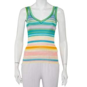 Missoni Multicolor Striped Knit Tank Top S