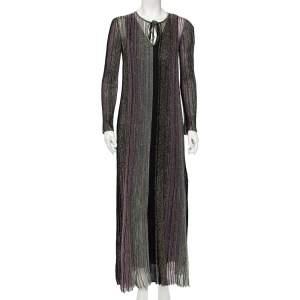 Missoni Multicolor Striped Lurex Knit Maxi Dress S