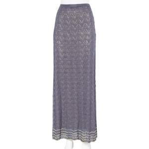M Missoni Deep Mauve Pointelle Knit Maxi Skirt L