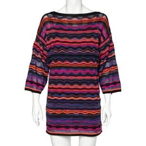 Missoni Multicolored Patterned Knit Short Dress S