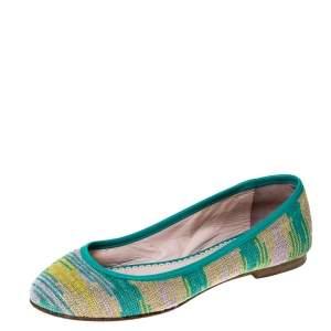 Missoni Multicolor Knit Fabric Ballet Flats Size 37