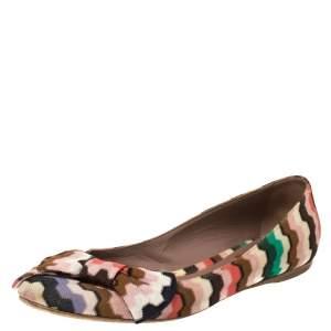Missoni Multicolor Nylon Bow Ballet Flats Size 38.5