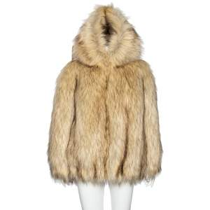 Miu Miu Beige Fur Oversized Aspen Jacket S