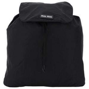 Miu Miu Black Nylon Logo Backpack