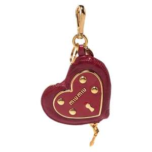 Miu Miu Red Leather Heart Coin Purse