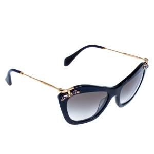 Miu Miu Dark Blue/Black Gradient SMU 03P Crystal Embellished Cateye Sunglasses