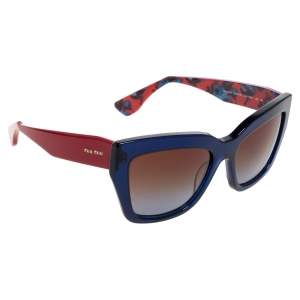 Miu Miu Blue/Red Gradient SMU01P Cat Eye Sunglasses