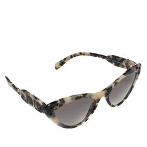 Miu Miu Black/Beige Havana SMU05T Cat Eye Sunglasses