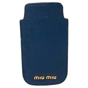 حافظة هاتف ميو ميو جلد أزرق