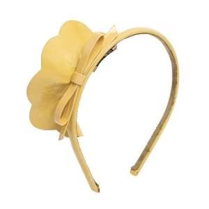 Miu Miu Beige Patent Leather Bow Headband