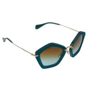 Miu Miu Turquoise Green SMU 06O Cat Eye Sunglasses