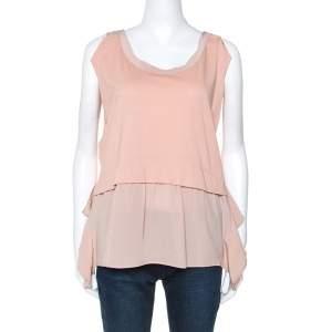 Miu Miu Dusky Pink Cotton and Silk Tunic S