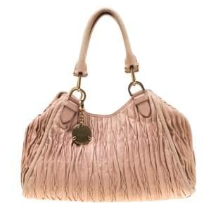 Bally Beige Matelasse Leather Shoulder Bag