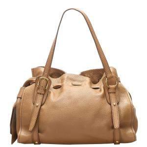 Miu Miu Brown Leather Vitello Bag