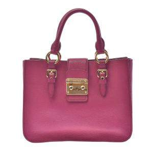 Miu Miu Pink Leather Madras Satchel bag