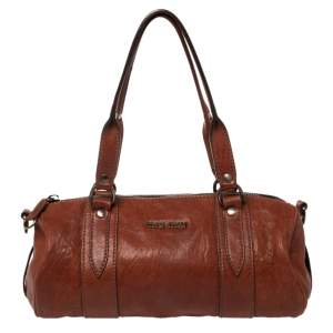 Miu Miu Copper Leather Boston Bag
