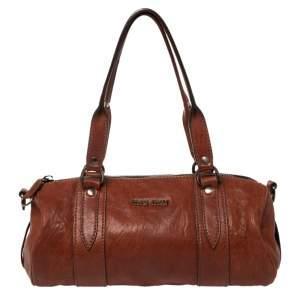 Miu Miu Copper Leather Boston Bag