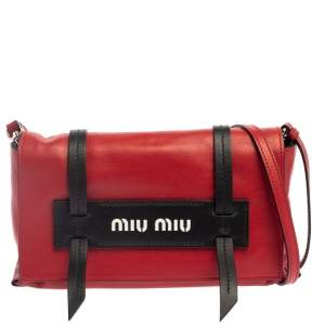 Miu Miu Red Leather Grace Shoulder Bag