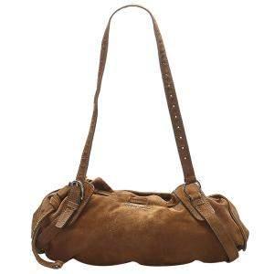 Miu Miu Brown Suede/Leather Bag