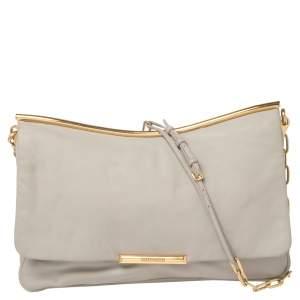 Miu Miu Grey Leather Frame Chain Shoulder Bag
