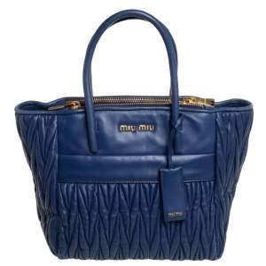 حقيبة يد توتس سحاب مزدوج جلد ماتيلاس أزرق