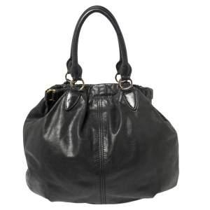 Miu Miu Black Leather Tote