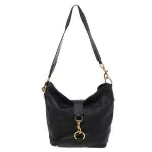 Miu Miu Black Leather Messenger Bag
