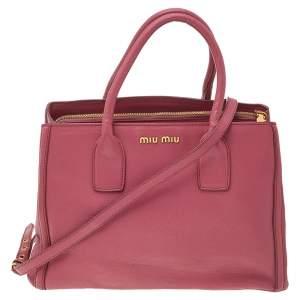 Miu Miu Rose Pink Leather Satchel