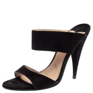 Miu Miu Black Suede Banded Sandals Size 39