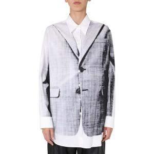 MM6 Maison Margiela White Oversized Fit Shirt Size M