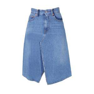 MM6 Maison Margiela Blue Flared Denim Skirt Size IT 42