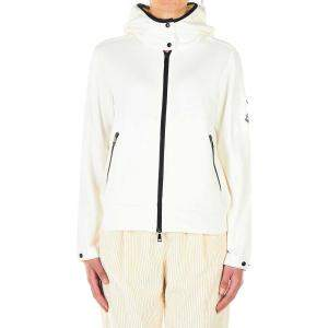 Moncler White Logo Patch Jacket Size S