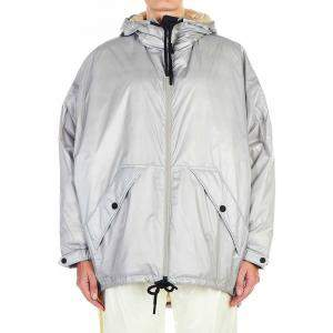 Moncler Silver/Grey Oversize Jacket Size FR 0