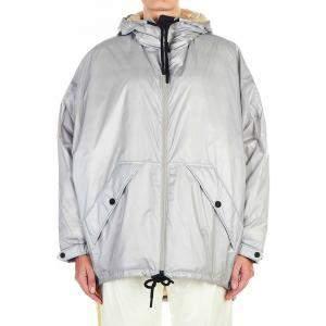 Moncler Silver/Grey Oversize Jacket Size FR 2