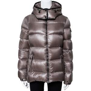 Moncler Greige Down Quilted Berre Puffer Jacket L