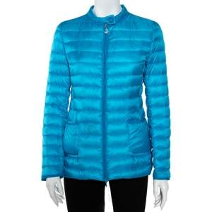 Moncler Blue Synthetic Dali Puffer Jacket S